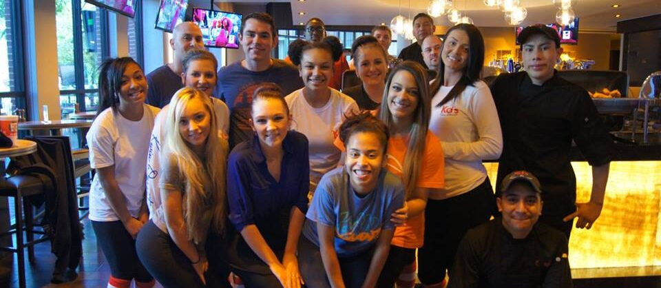 A group of teenagers hosting a Ronald McDonald House Charities of Oklahoma City event at KD restaurant in Bricktown, Oklahoma City.