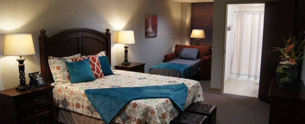 The Ronald McDonald House® at The Children's Hospital located on the 3rd Floor of Garrison Tower, bedroom pictured.
