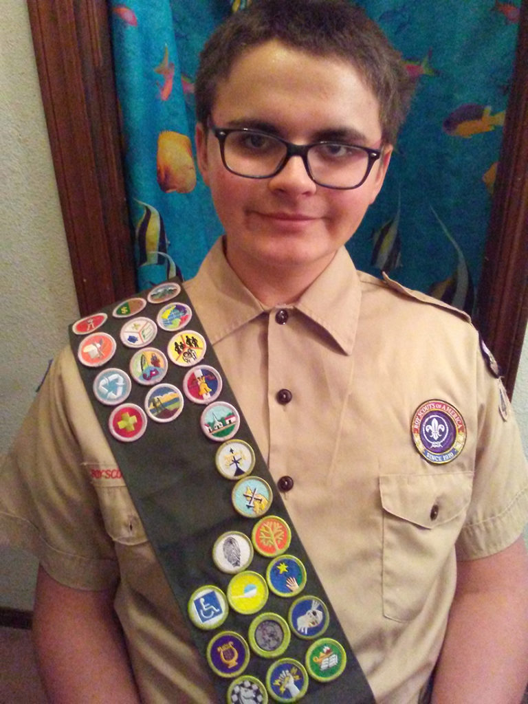 Jacob Hasbell in his Eagle Scout uniform