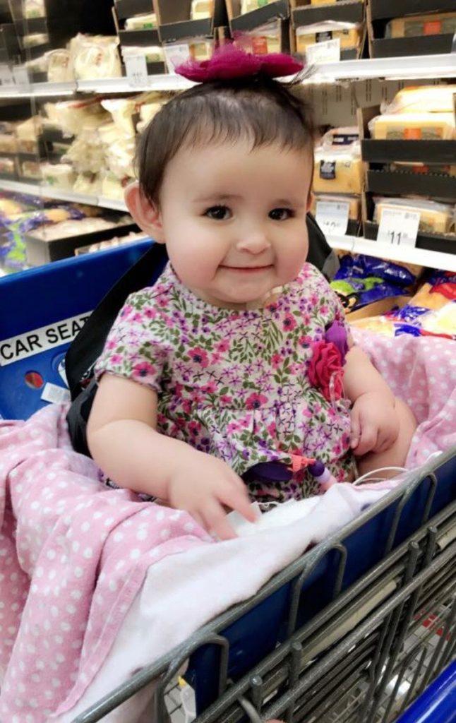 Paris Contreras in shopping cart